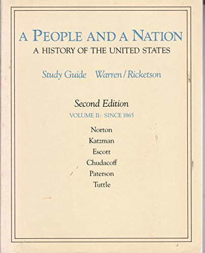 9780395400203: A People and a Nation: A History of the United States/Study Guide