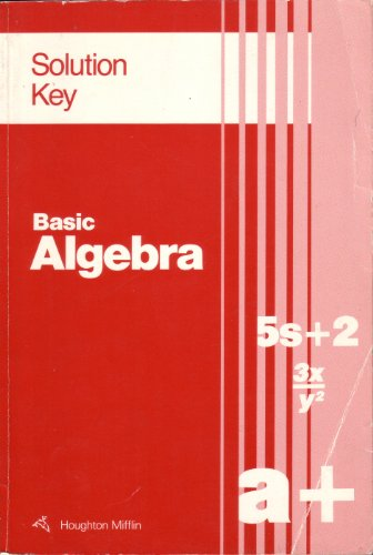Basic algebra: Solution key (0395411904) by Richard G Brown