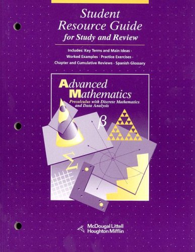 9780395421703: McDougal Littell Advanced Math: Student Resource Guide for Study and Review Grades 9-12