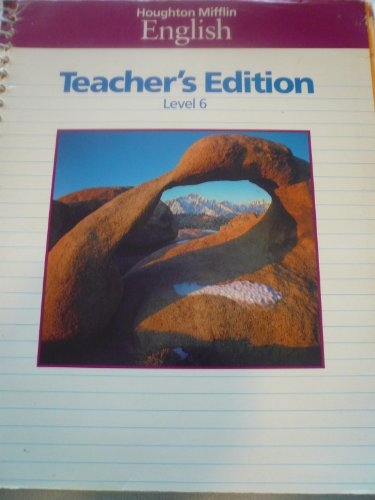 9780395421987: Houghton Mifflin English Teacher's Edition Level 6 (Spiral-bound)