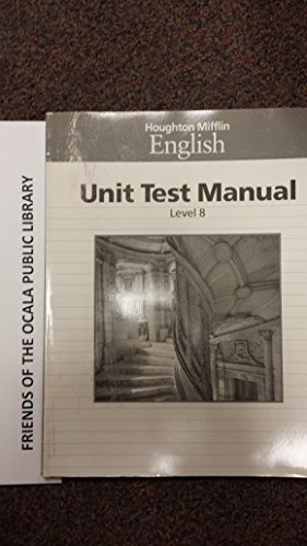 9780395422496: Unit Test Manual Level 8 (Houghton Mifflin English)