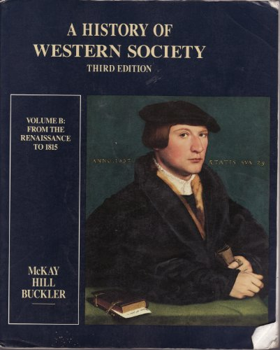 9780395424124: A History of Western Society: From the Renaissance to 1815