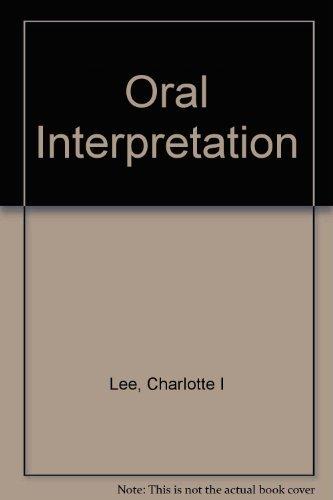 Oral Interpretation: Charlotte I. Lee; Timothy Gura