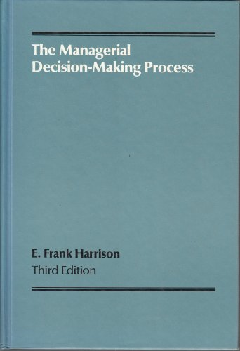 9780395424810: The Managerial Decision-making Process