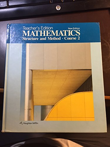 9780395430491: Mathematics Structure and Method Course 2, Teacher's Edition