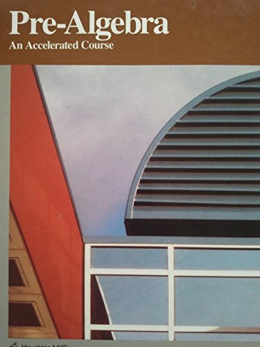 9780395430507: Pre-Algebra: An Accelerated Course