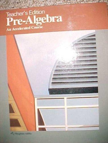 9780395430514: Pre-Algebra An Accelerated Course