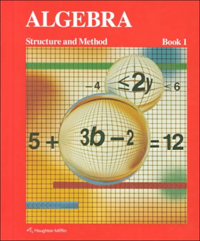9780395430521: Algebra: Structure and Method, Book 1