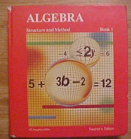 9780395430538: Algebra Structure and Method Book 1 Teacher's Edition