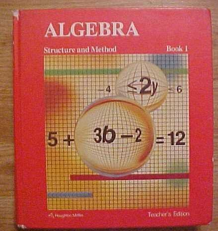 9780395430538: Algebra Structure and Method Book 1 Teacher's Edition
