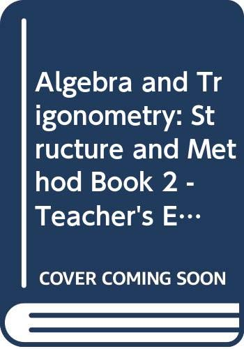 9780395430552: Algebra and Trigonometry: Structure and Method, Book 2 - Teacher's Edition