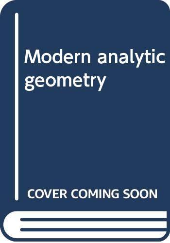 Modern Analytic Geometry: William Wooton