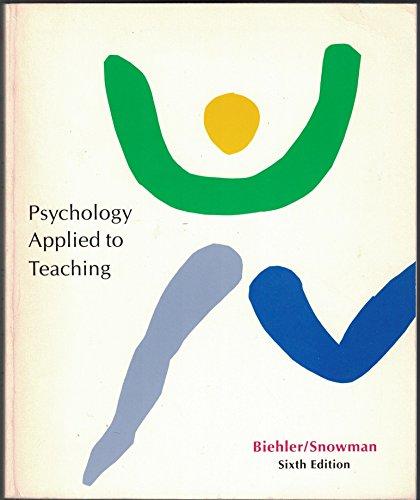Psychology Applied to Teaching: Robert F. Biehler,