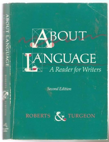 9780395432327: About language: A reader for writers