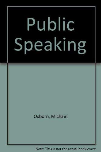 9780395432570: Public speaking