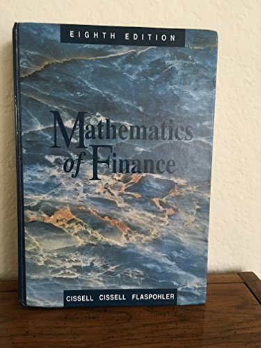 9780395433249: Mathematics of Finance