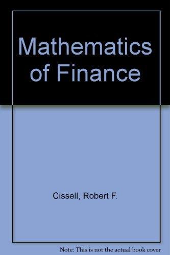 9780395433249: Mathematics of Finance