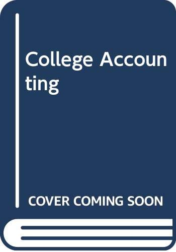 9780395433409: College accounting (Chapters 1-10)
