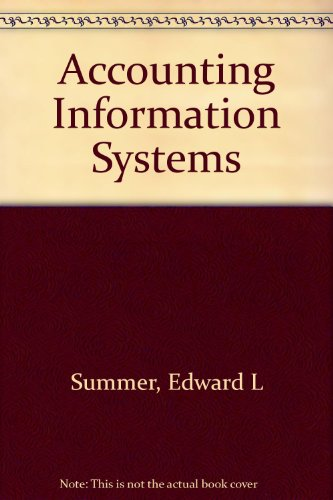 Accounting Information Systems: Summer, Edward L.