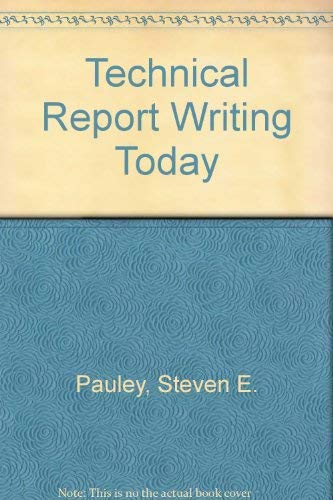 9780395433553: Technical report writing today