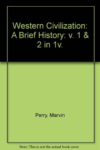 9780395433560: Western civilization: A brief survey (v. 1 & 2)