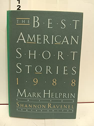 9780395442579: The Best American Short Stories 1988