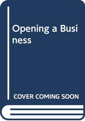 9780395452943: Opening a Business