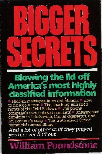 9780395453971: Bigger Secrets Pb