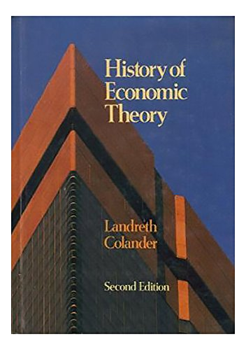 9780395456910: History of Economic Theory
