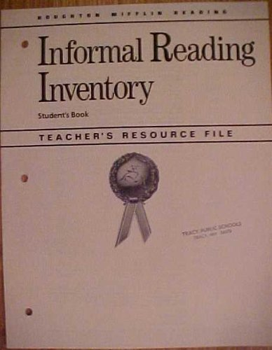 Reading Informal Reading Inventory Student's Book Teacher's Resource File (1986 Copyright...