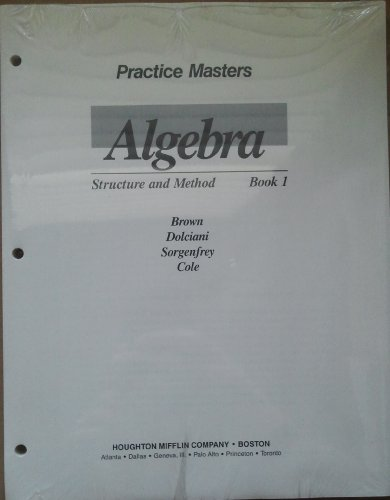 9780395470510: Practice Masters Algebra Structure and Method Book 1