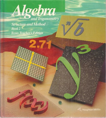 9780395470565: Algebra and Trigonometry Structure and Method, Book 2, Teacher's Edition