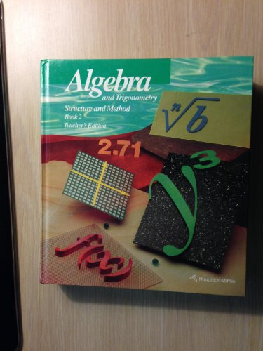 9780395470572: Algebra and Trigonometry, Structure and Method Book 2, Teacher's Edition