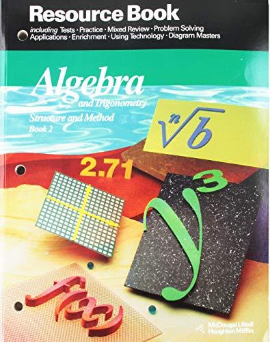9780395470589: McDougal Littell Structure & Method: Resource Book Book 2