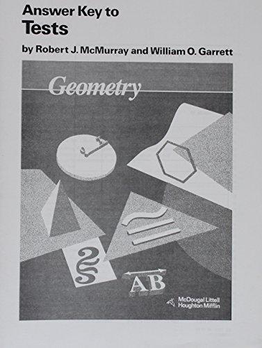 Geometry homework answer key