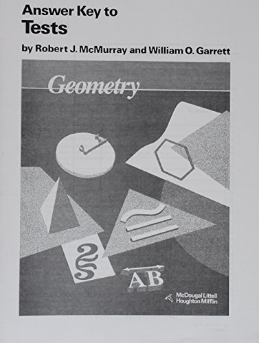9780395470718: McDougal Littell Jurgensen Geometry: Answer Key, Tests Geometry (Grade 10)