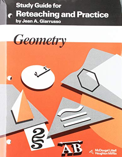 9780395470749: Geometry: Study Guide for Reteaching & Practice