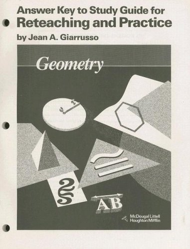 9780395470756: McDougal Littell Jurgensen Geometry: Answer Key for Study Guide for Reteaching & Practice Geometry