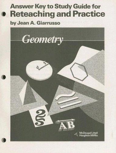 9780395470756: McDougal Littell Jurgensen Geometry: Answer Key for Study Guide for Reteaching & Practice Geometry