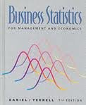 9780395472705: Business Statistics: For Management and Economics