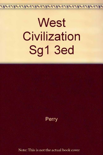 WESTERN CIVILIZATION STUDY GUIDE VOLUME.1 3RD EDITION TO 1789 (0395486483) by PERRY; LINVILLE; CHASE; JACOB