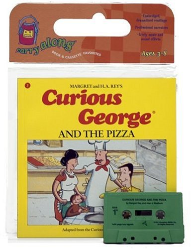 9780395488744: Curious George and the Pizza Book & Cassette