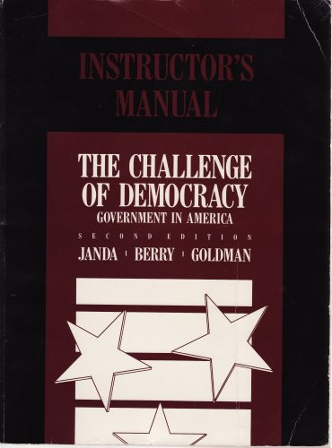 9780395495599: The Challenge of Democracy: Government in America (Instructor's Manual)