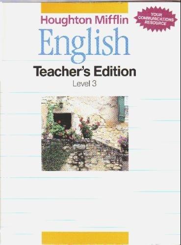 9780395502730: Houghton Mifflin English, Grade 3, Teacher's Edition