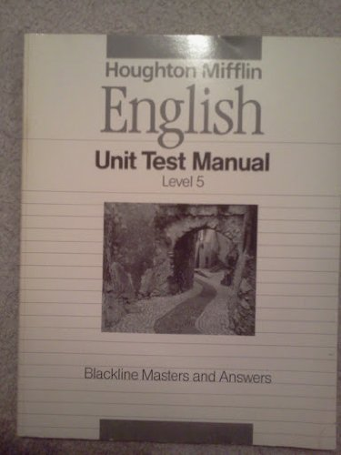 9780395503942: English- Unit Test Manual- Level 5- Blackline Masters and Answers