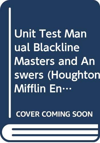 9780395503966: Unit Test Manual Blackline Masters and Answers (Houghton Mifflin English, Level 7)