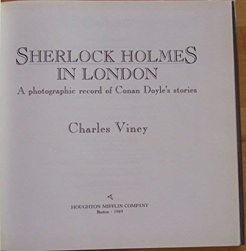 Sherlock Holmes in London: A Photographic Record: Viney, Charles