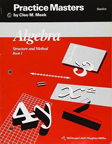 9780395522561: McDougal Littell Structure & Method: Practice Blackline Masters Book 1