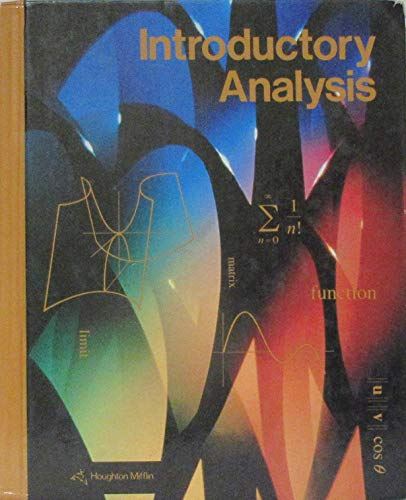 9780395524329: Introductory Analysis