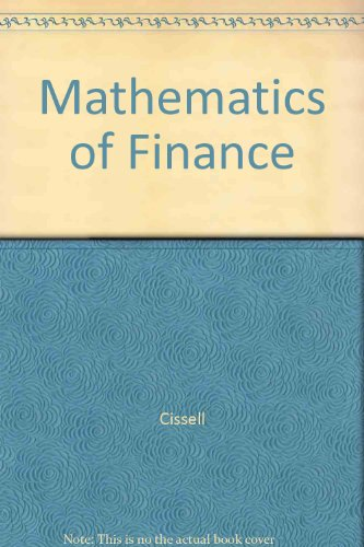 9780395526521: Mathematics of Finance